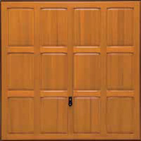 Hormann Series 2000 timber up and over garage doors Style 2121 Chesterfield